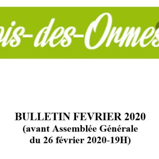 AG Bois des ormes du 20/02/2020